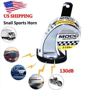 Us Stock Car Motorcycle Atv Boat Super Loud Tone Snail Horn Loud Kit 12v Chrome