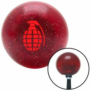 Red Pineapple Grenade Red Metal Flake Shift Knob Usa Shifter Auto Speed Jdm Air