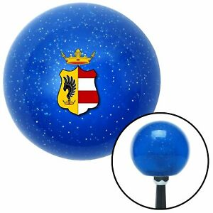 Hungarian Coat Of Arms Blue Metal Flake Shift Knob M t Usa Shifter Hurst Drag Si