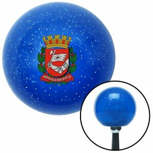 Knight Coat Of Arms Blue Metal Flake Shift Knob Usa Shifter Auto Trans Car Hurst