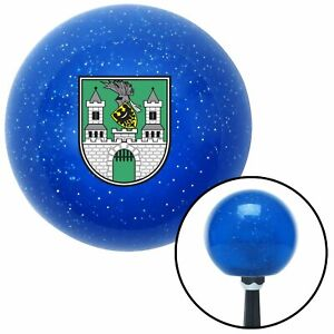 Poland Coat Of Arms Blue Metal Flake Shift Knob Usa Shifter Auto Tree Hurst Jdm