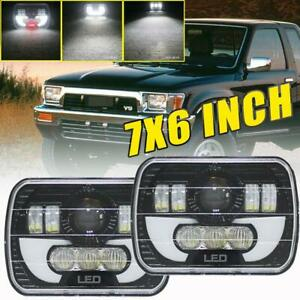 2x 7x6 240w H6054 Dot Hi lo Beam Led Headlights Drl For Toyota Pickup Truck 5x7