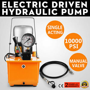 Electric Driven Hydraulic Pump 10000psi Single Acting 110v 60hz 8l Oil Capacity
