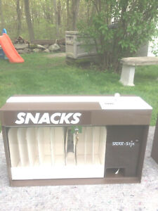 Pair Of Snak stix Snack Vending Machine Vintage 1986 Countertop Candy Dispenser
