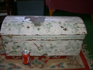 Vintage Shabby Chic Dome Trunk