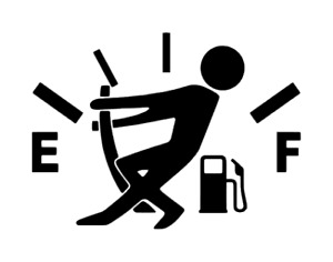 Funny Car Stickers High Gas Consumption Decal Fuel Gage Empty Stickers Truck Jdm