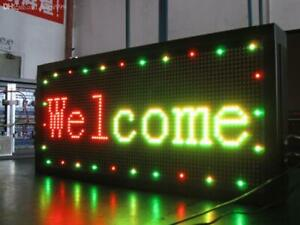 Led Sign 12 X 40 Programmable Scrolling Message Board Rgy rwp rbp 3 Colors