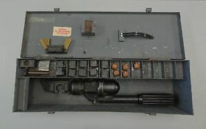 Kearney Compression Crimping Tool Press 1983 With Dies And Metal Case