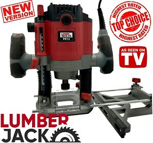 Lumberjack Plunge Router Heavy Duty 1800w With 1 4 1 2 Collets 240v