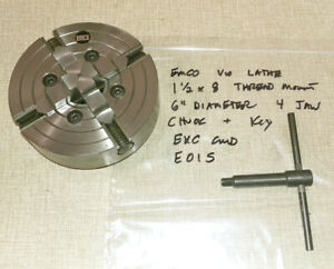 Emco Maximat V10 Series Lathe 6 Reversible Independent 4 Jaw Chuck E01s