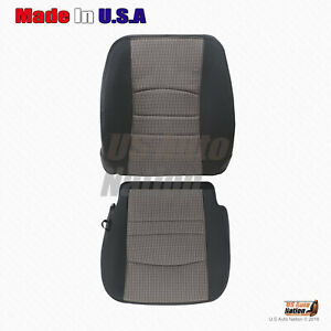 2009 2010 2011 2012 Dodge Ram Driver Bottom Plus Top Upper Cloth Seat Cover Gray