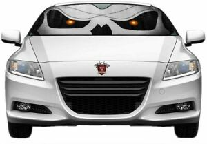 Universal 24 58 Inch Reflective Slanted Skull Windshield Window Sun Shade Heat