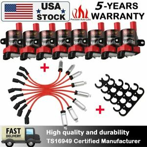 D585 Ignition Coils Spark Plug Wires For For Chevy Silverado Gmc 4 8 5 3 6 0l