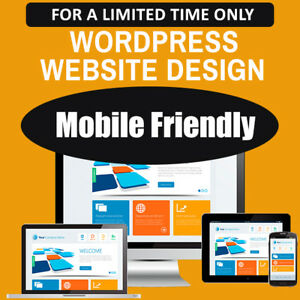 Wordpress Website Custom Web Design Professional Mobile Friendly