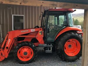 2013 Kubota M7040 Tractor With Loader Cab Heat ac 4x4 70hp 616 Hrs Very Clean