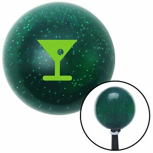 Green Martini Glass M t Olive Green Metal Flake Shift Knob M t Usa Tree Trans Si