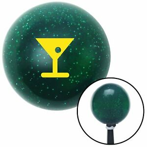 Yellow Martini Glass M t Olive Green Metal Flake Shift Knob M t Usa Gear Street