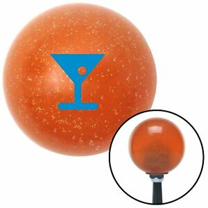 Blue Martini Glass M t Olive Orange Metal Flake Shift Knob M t Usa Hurst Gear Si