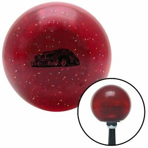 Black Hot Rod Sled Red Metal Flake Shift Knob Usa Shifter Auto Car Stick Gear Si
