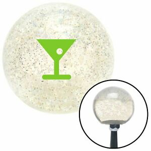 Green Martini Glass M t Olive Clear Metal Flake Shift Knob M t Usa Street Speed