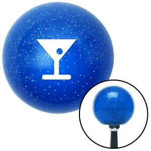 White Martini Glass M t Olive Blue Metal Flake Shift Knob M t Usa Auto Car Speed