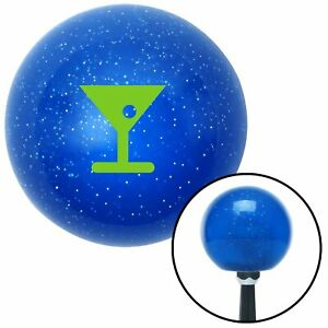 Green Martini Glass M t Olive Blue Metal Flake Shift Knob M t Usa Auto Trans Jdm