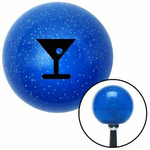 Black Martini Glass M t Olive Blue Metal Flake Shift Knob M t Usa Auto Car Gear