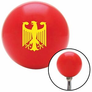 Yellow Eagle Coat Of Arms Red Shift Knob Usa Shifter Auto Manual Car Hurst Drag