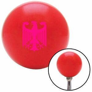 Pink Eagle Coat Of Arms Red Shift Knob Usa Shifter Auto Manual Speed Hurst Gear