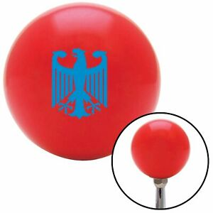 Blue Eagle Coat Of Arms Red Shift Knob Usa Shifter Auto Manual Tree Gear Hurst