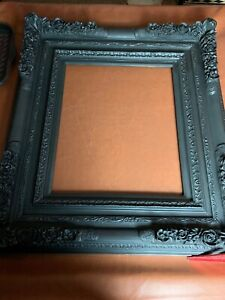 Antique Vintage Wood Picture Frame 36 By 40 Large Carved Flowers 24 By 20