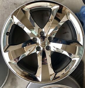 Factory Oem 2011 2014 20 Dodge Challenger Charger Chrome Wheel Rim 2411 2424