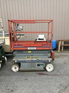 Skyjack Sj3219 19 Electric Scissor Lift Man Aerial Platform Extension 24 V