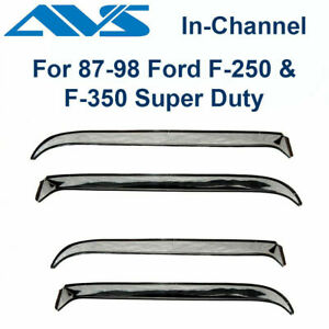 Avs Rain Guards 4pc Stainless Window Vent Visor For 87 97 Ford F250 F350 14075