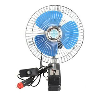 Single Head 12v 25w Mini Car Fan Portable Vehicle Truck Auto Cooling Cooler New