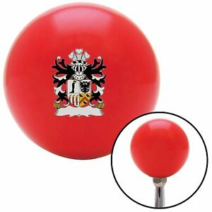 Roystonlodge Coat Of Arms Red Shift Knob Usa Shifter Auto Manual Trans Hurst Jdm
