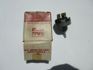 1962 Fairlane Nos Oem Ford C2oz 17a553 a 2 Speed Windshield Wiper Switch 62