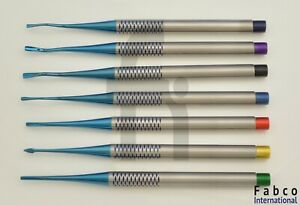 Dental Pdl Luxating Root Elevators Set Of 7 Prices Periotomes Tips Blue Titanium
