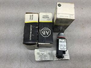 New In Box lot Of 3 Allen Bradley Small Lighted Push Button 800mr pb16