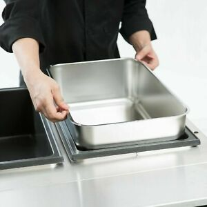 4 Pack Full Size Stainless Steel 6 Deep Steam Table Water Spillage Pan Buffet