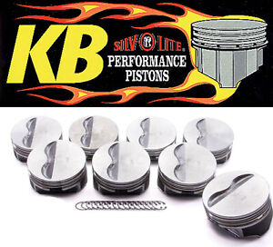 Keith Black Claimer 9908hc Flat Top 2vr Pistons Set 8 For Chevy 350 W 6 0 Rod