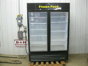 True Gdm 49f ld Glass 2 Door Merchandiser Reach In Freezer Led Lighting 2014