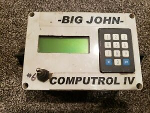 Big John Co Computrol Iv Planter Monitor