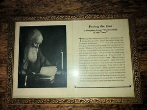 Antique Wood Frame Original Glass With Old Print Poem About Getting Old
