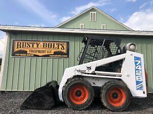 1994 Bobcat 742b Skid Steer Loader Runs Great Affordable Low Cost Ship