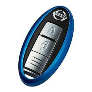 Nissan Genuine Parts Intelligent Key Case Silicone Cover Type Blue Chrome Japan