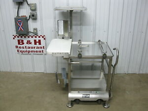 Face To Face Hobart Globe Slicer Deli Buddy Stainless Cart W Cutting Board