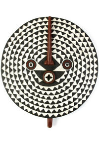 African Art Sculpture Large Bwa Wooded Sun Mask