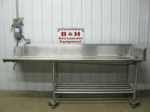 108 Stainless Steel Heavy Duty Right Side Clean Dish Washer Machine Table 9
