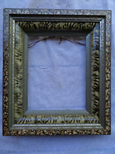 Antique Vintage Victorian Deep Well Marbled Picture Frame Fancy Estate Find